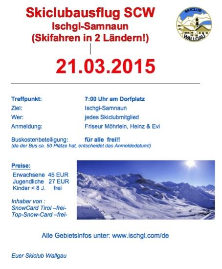 2015 Skiclubausflug